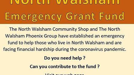 Emergency grant fund poster. Picture: North Walsham Community Shop