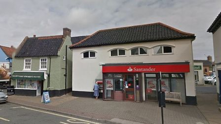The former Santander branch in Market Place, Holt will be turned into a new cafe. Picture: GOOGLE ST