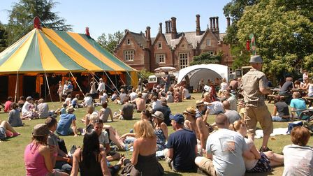 A scene from a VW camper van festival at Holt Hall. Picture: Colin Finch