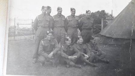 One of the photos featured in the musical video made by Tina Blaber to mark VE Day. It shows men in