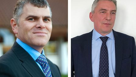 Steve Blatch, left, has become the new cheif executive at North Norfolk District Council. He was pre