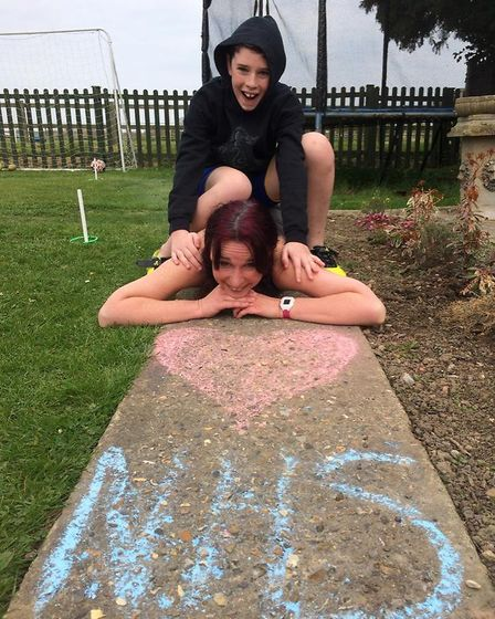 All done. Sam and Kat Tindall running for the NHS. Pictures: Pictures: Kat Tindall