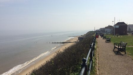 North Norfolk coast on lockdown on Easter Sunday. This is Mundesley. Pictures: David Bale
