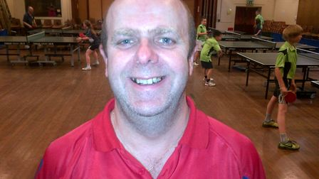 Mark Dare, Cromer Tennis Club's table tennis coach, who is starting a new online course. Picture: Su