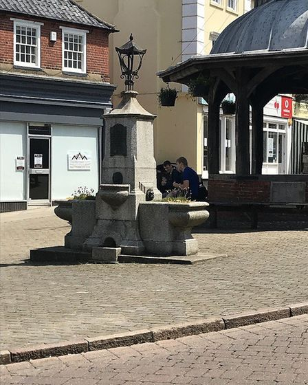The water fountain in Market Place, North Walsham will be reconnected to the water mains. Pictures: