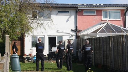 Police at scene in Walcott. Pictures: supplied