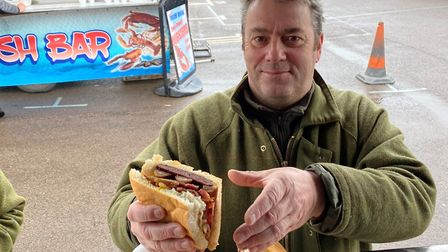 Michael Bidwell, from Cambridge, was the first person to undertake the 'challenge' at Sheringham's T