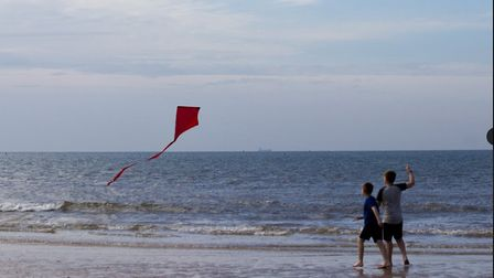 A scene from After The Sea filmed on Sheringham beach. Pictures: Tom Leatherbarrow