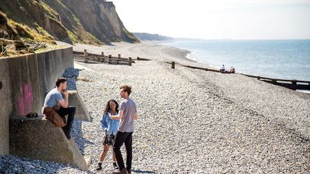 Tom Leatherbarrow directing the filming of After The Sea at Sheringham seafront. Pictures: Tom Leath