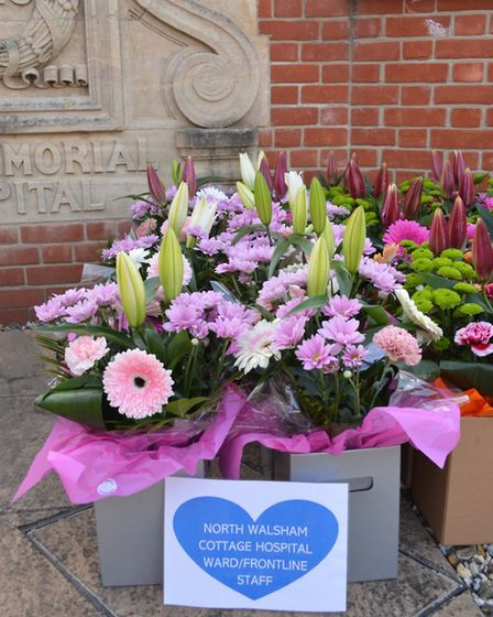 North Walsham War Memorial Hospital received floral gifts from Daniels Transport and The Florist Sho