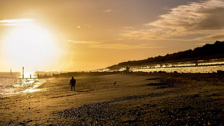 The Norfolk (England) Coast Path goes by the beach at Eccles-on-Sea. Picture: JP Appleton