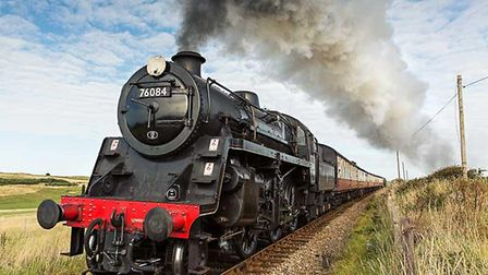 The Royal Norfolk Regiment steam locomotive on the North Norfolk Railway. Picture: NNR