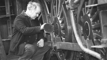 Tony Lambert on the North Norfolk Railway, pictured in 1993. Picture: Archant Library
