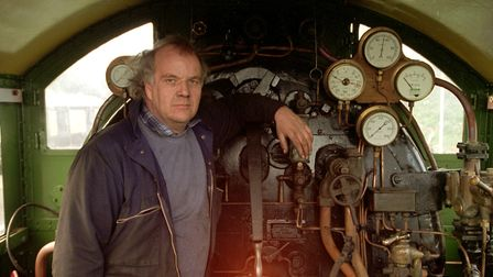 Tony Lambert, pictured in 1995 on the North Norfolk Railway. Picture: Archant Library