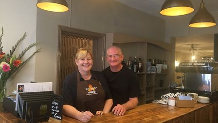 Donna and John Lee at Hot Rocks, Cromer. Picture: Eleanor Pringle