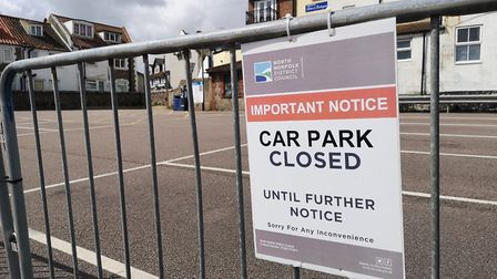 A closed coastal car park in Sheringham. Picture: Brittany Woodman