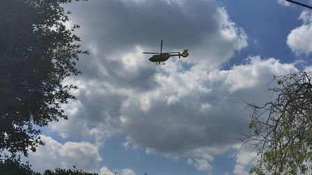 The East Anglian Air Ambulance has attended an incident in Overstrand. Picture: Archant