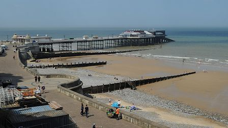 Cromer beach on a quiet day during lockdown. Picture: Chris Bishop