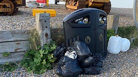 Rubbish and human waste were left on Weybourne beach by visitors. Picture: Lyndon Swift