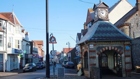 Sheringham town centre, which has suffered a dramatic drop in footfall since the coronavirus outbrea
