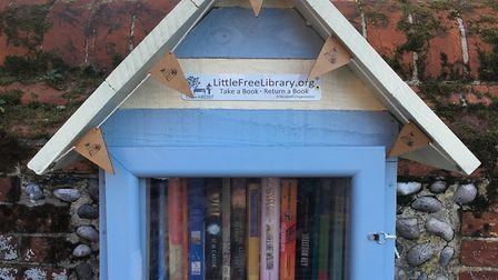 The Bookworm's Beach Hut in Overstrand Road, Cromer. Picture: Supplied by Caroline Dickens