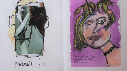 A page from an art book created by friends John Midgley and Mike Pert, with Mr Midgley's contributio