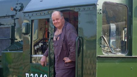 Tony Lambert pictured on the footplate of a locomotive on the North Norfolk Railway. Pictures: Keys