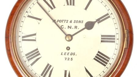 Great Northern Railway clock, sold for £750. Pictures: Keys Auctioneers and Valuers/Lambert family