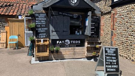 Fat Teds street food stand in Sheringham. Picture: Stuart Anderson