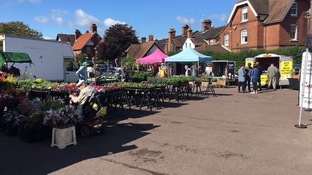Traders selling their wares at Cromer's Friday market at Meadow car park. Picture: STUART ANDERSON