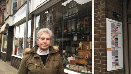 Chrissie Graham, owner of Fairdeal Antiques and Collectables, which, just like many Cromer shops, is