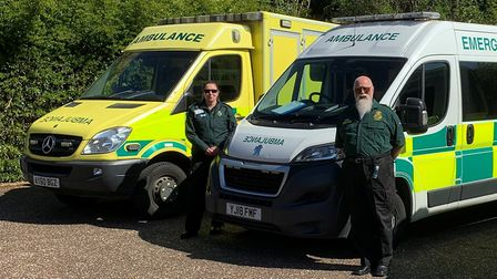 Karen Smithson and Clive Gritten from Stalham Ambulance First Responders. Picture: Supplied by Tim T