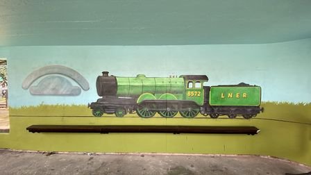 Colin Seal's new mural in Sheringham. Pictures: Colin Seal