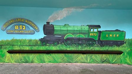 Colin Seal's mural at the bus shelter at the NNR. Picture: Clive Hughes Facebook