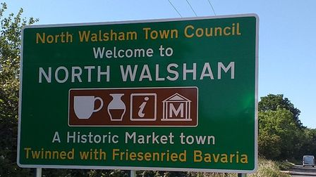 New gateway signs in North Walsham. Picture: Bob Wright