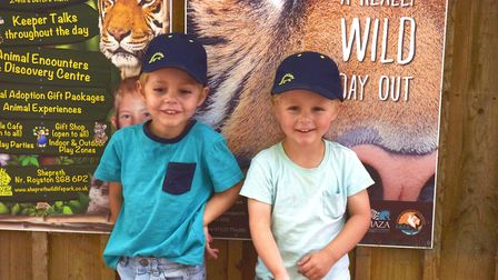 Amazona Zoo, Cromer reopens. Finnley and Lewis Pictures: BRITTANY WOODMAN