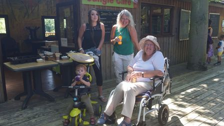 Amazona Zoo, Cromer reopens. Ollie, Haley, Angie and Olive Pictures: BRITTANY WOODMAN
