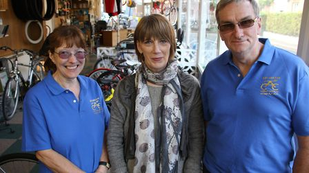 Mike and Alison Brown took over Aylsham Cycle Centre in 2016. They are pictured with previous owner