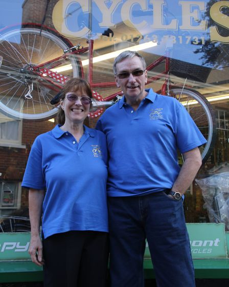 Mike and Alison Brown took over Aylsham Cycle Centre in 2016. Picture: Archant