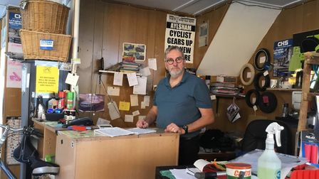 Aylsham Cycle Centre is for sale. Mike Brown in the shop. Pictures: Mike and Alison Brown
