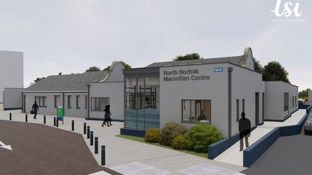 Artists impression of the North Norfolk Macmillan Centre at Cromer Hospital. Picture: LSI Architects