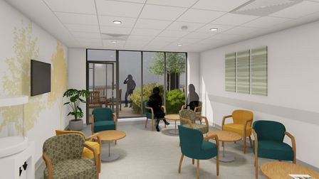 Artist's impression of the North Norfolk Macmillan Centre at Cromer Hospital. Picture: LSI Architect
