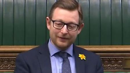 North Norfolk MP Duncan Baker in parliament. Picture: Parliament TV
