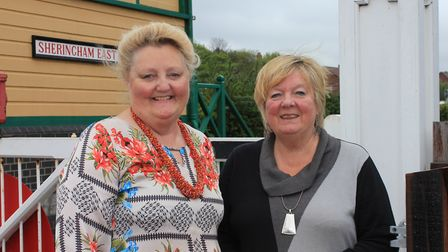 Sheringham mayor Madeleine Ashcroft (right) with deputy mayor Liz Withington. The town council has p