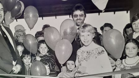 Veronica Pearson, when she opened Budgens of Holt, aged 10. Picture: Supplied by Veronica Pearson