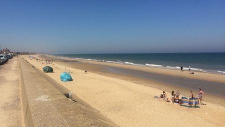 Walcott beach was busy, but not jam-packed. Pictures: David Bale