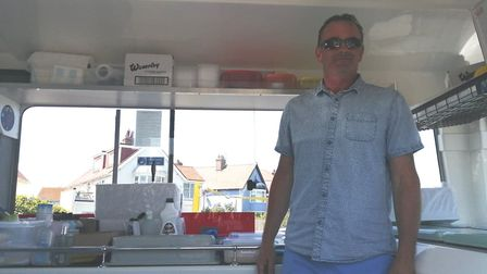 Andy was stationed at Dimascio's Ice Cream van on Marine Parade. He said the crowds on the beach had