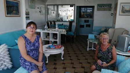 Tina (left) and Liz, from the newly renovated Seabreeze Cafe just off Gorleston's seafront. Photo: S