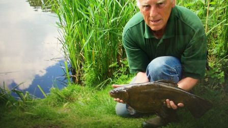 Barry Briggs was rescued from his pond at Smallburgh after his granddaughter, Saskia, spotted him. P