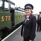 Anne Hadley, new station master at the North Norfolk Railway's Sheringham station. Picture: Maurice